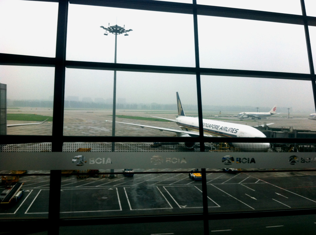 Plane that took me from Singapore to Beijing.