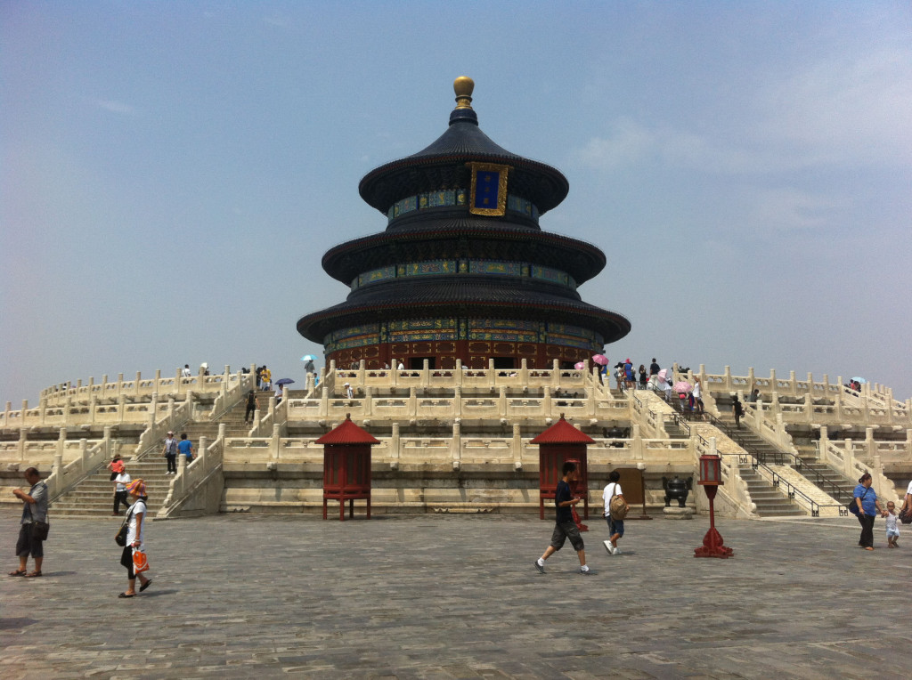 The main building of the Temple of Heaven. This is where emperors would sacrifice livestock and grain to the gods, praying for good harvests.